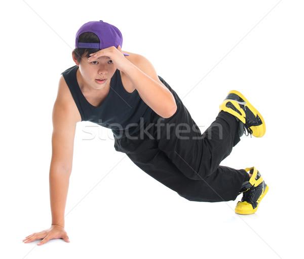 Asya hip hop dansçı serin bakıyor Stok fotoğraf © szefei