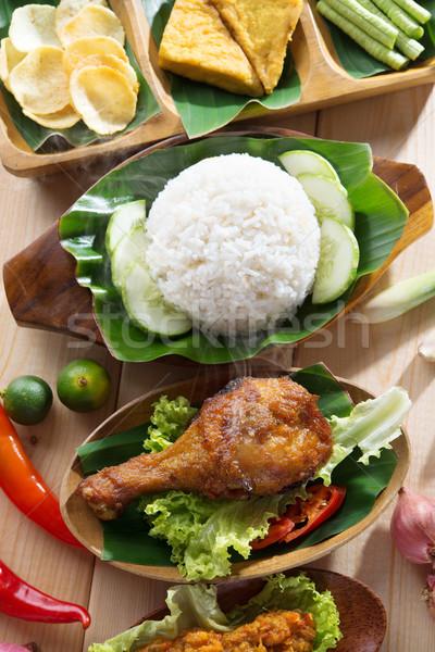 Indonezyjski ryżu popularny miejscowy żywności Zdjęcia stock © szefei