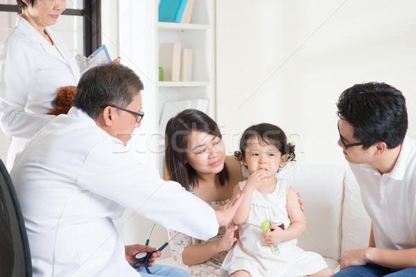 çocuk doktoru hasta danışmak aile doktor Stok fotoğraf © szefei