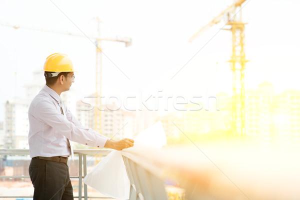 Site contractor engineer working Stock photo © szefei