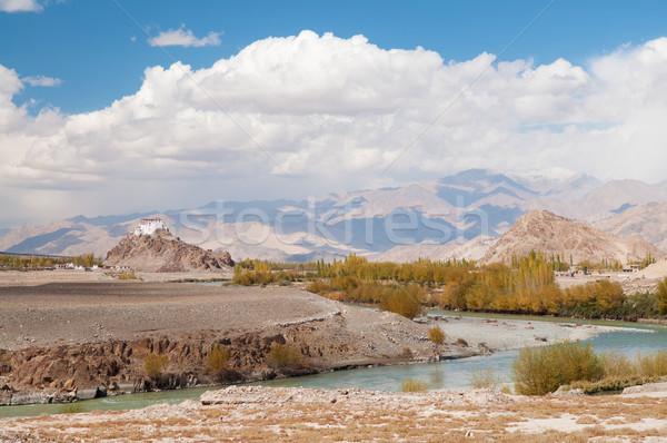 Indie klasztor widoku góry słynny Zdjęcia stock © szefei