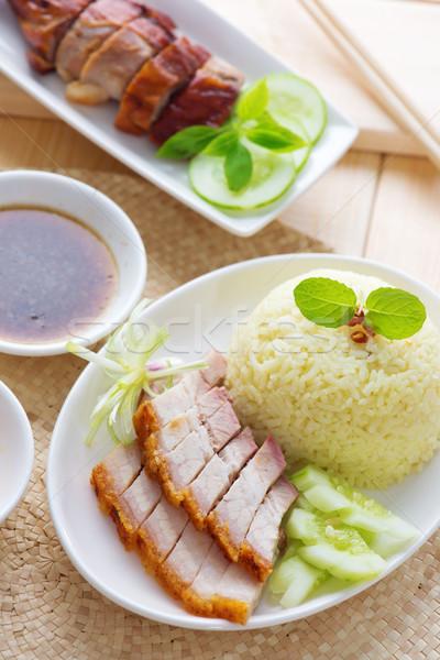 ぱりぱり 腹 豚肉 中国語 スタイル ストックフォト © szefei