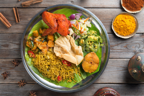 Arroz ver indiano mesa de jantar Foto stock © szefei