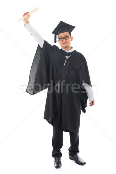 ázsiai felnőtt diák érettségi teljes alakos délkelet Stock fotó © szefei