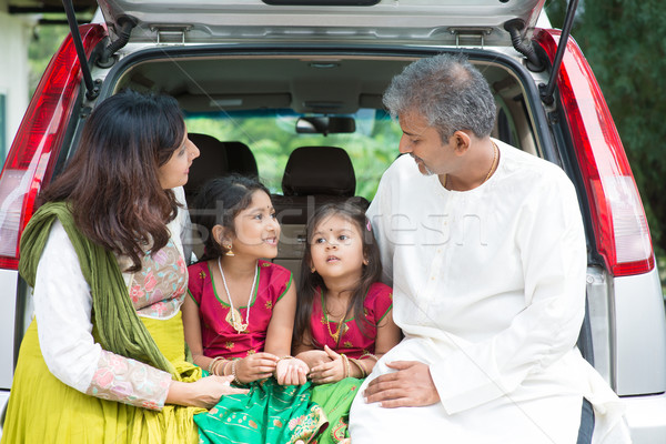 Indian family going to vacation Stock photo © szefei
