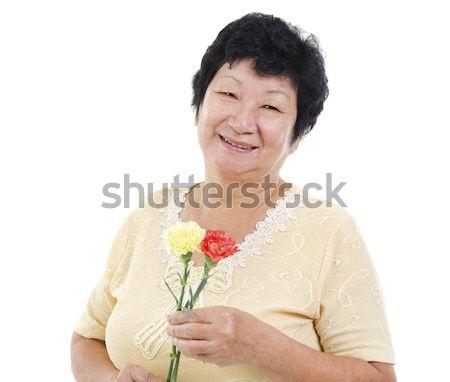 Happy grandmother Stock photo © szefei