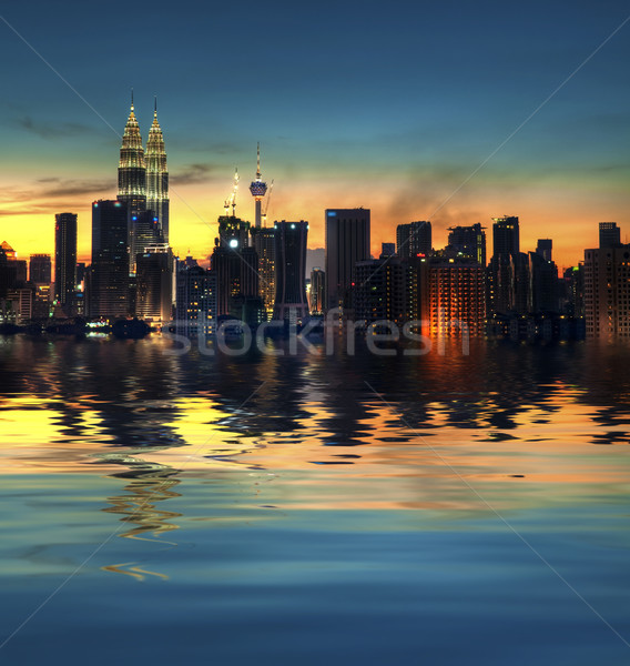 クアラルンプール 市 マレーシア 表示 水 反射 ストックフォト © szefei