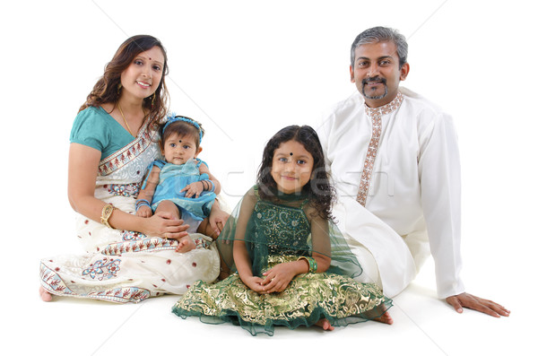 Traditional Indian family Stock photo © szefei