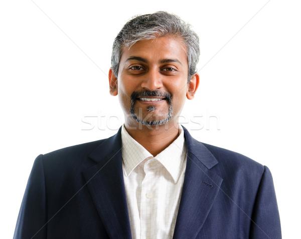ázsiai indiai üzletember jól kinéző érett üzlet Stock fotó © szefei