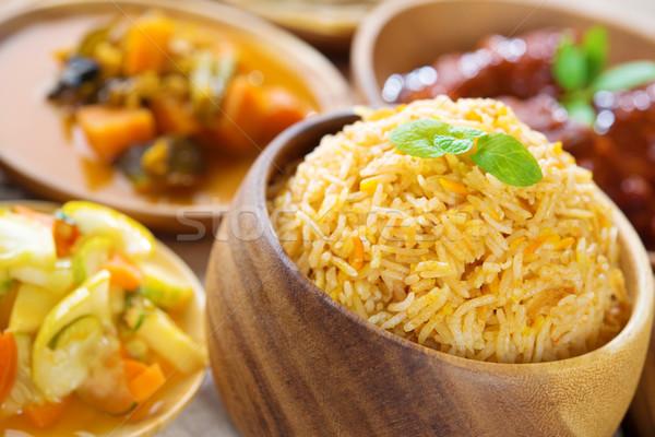 Indian riso fresche cotto basmati Foto d'archivio © szefei