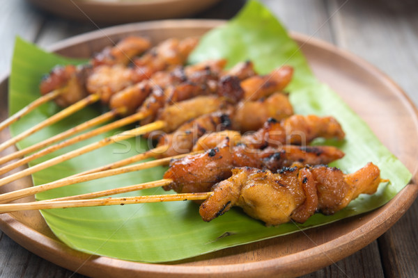 Asian chicken satay Stock photo © szefei