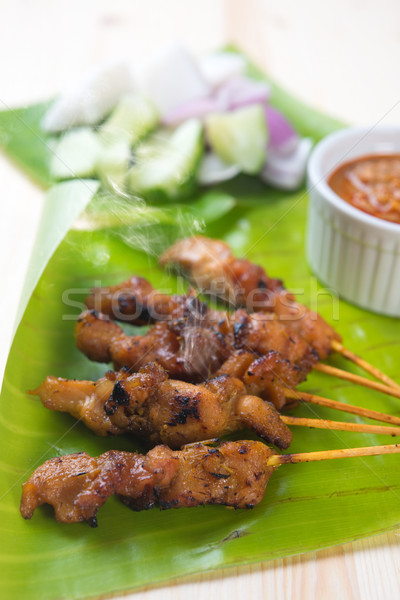 Asian food satay Stock photo © szefei