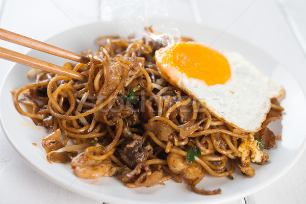 Asian dish Char Kuey Teow Stock photo © szefei