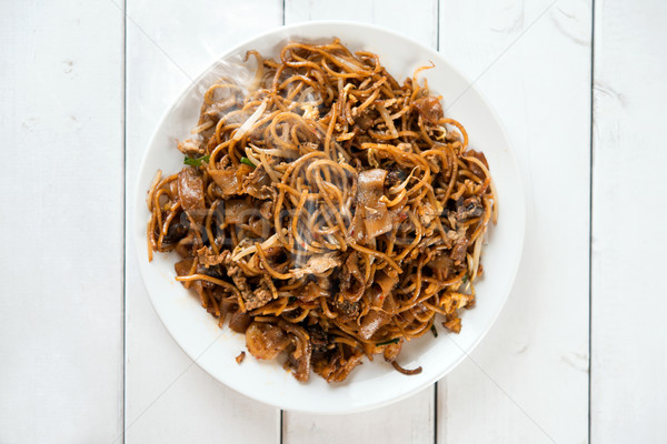 Chinese dish Char Kuey Teow Stock photo © szefei