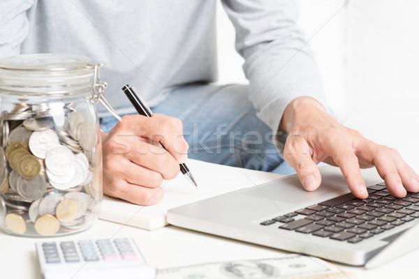 Analyzing investment Stock photo © szefei