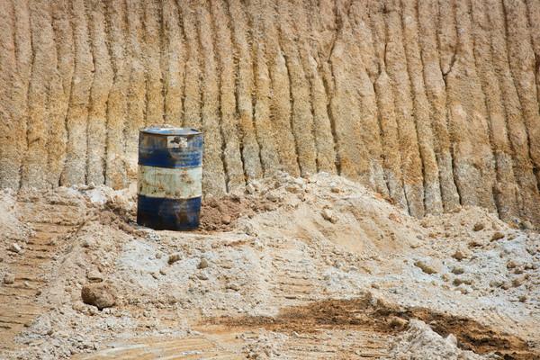 Oil can on sand mines Stock photo © szefei
