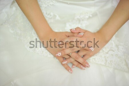 Bride hand Stock photo © szefei