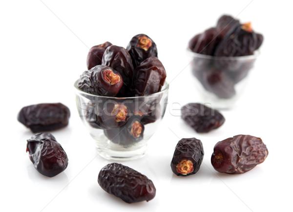 Randevú pálma gyümölcs aszalt gyümölcsök ramadán Stock fotó © szefei