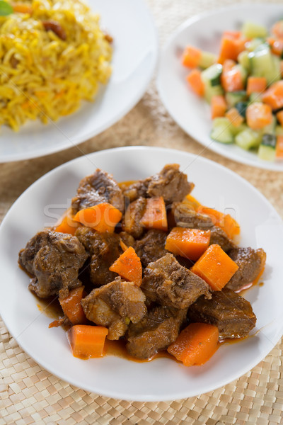 Arabic rice and mutton Stock photo © szefei