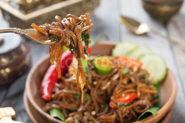 Picante frito delicioso Asia listo Foto stock © szefei