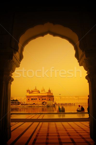 Foto stock: Dourado · templo · Índia · windows · ocidente · lado