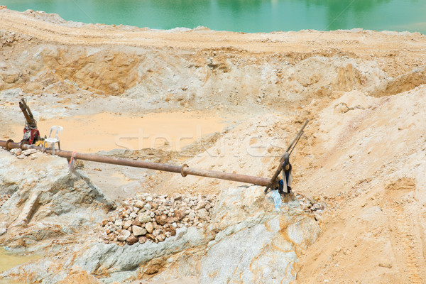 Zand mijnbouw activiteit zuiden water bouw Stockfoto © szefei