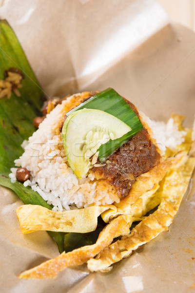 A pack of nasi lemak Stock photo © szefei