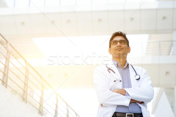 アジア 医療 医師 肖像 インド 立って ストックフォト © szefei