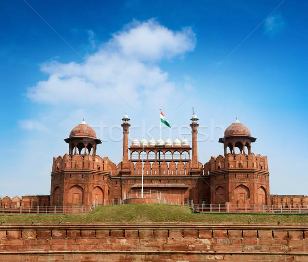 красный форт Дели путешествия Индия Мир Сток-фото © szefei