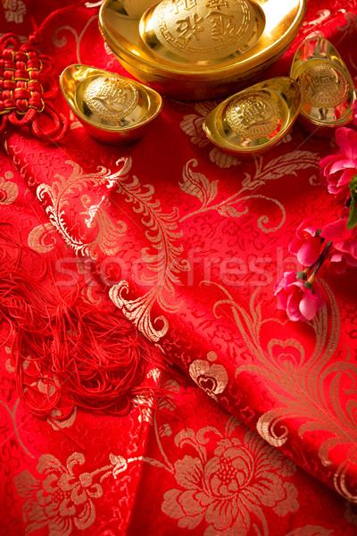 Chinese new year festival background Stock photo © szefei