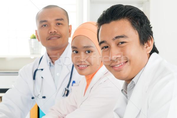 Stock fotó: Boldog · délkelet · ázsiai · orvosok · portré · orvosi