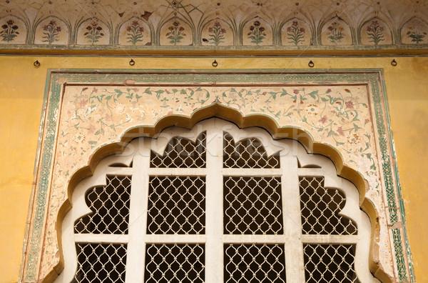 âmbar forte porta Índia edifício parede Foto stock © szefei