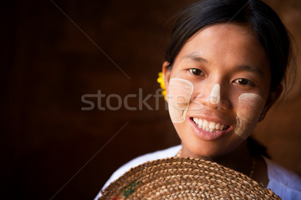Pretty Myanmar girl Stock photo © szefei