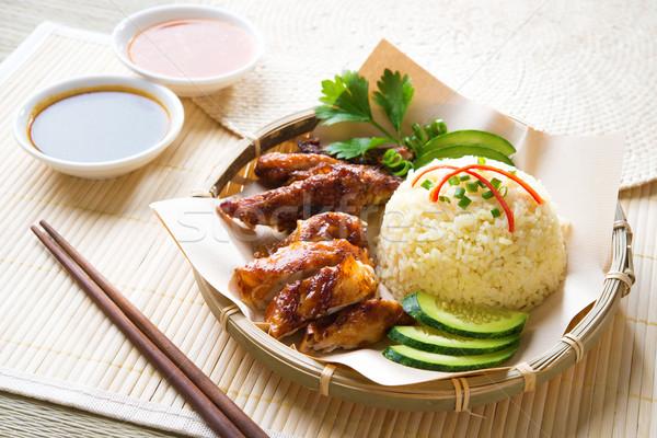 Hainan chicken rice Stock photo © szefei