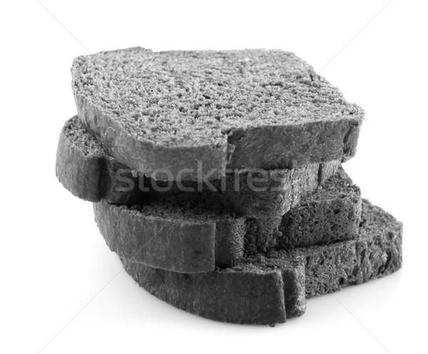 Fekete faszén kenyér organikus izolált fehér Stock fotó © szefei