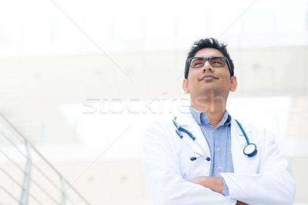 アジア インド 医療 医師 肖像 笑みを浮かべて ストックフォト © szefei