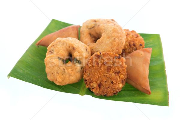 Traditional Indian snack platter Stock photo © szefei