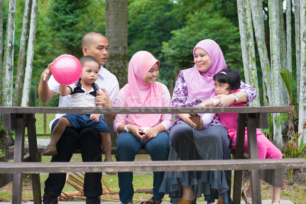 Muslim family lifestyle Stock photo © szefei
