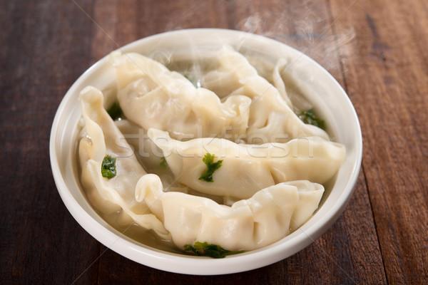 Heerlijk asian schotel soep vers plaat Stockfoto © szefei