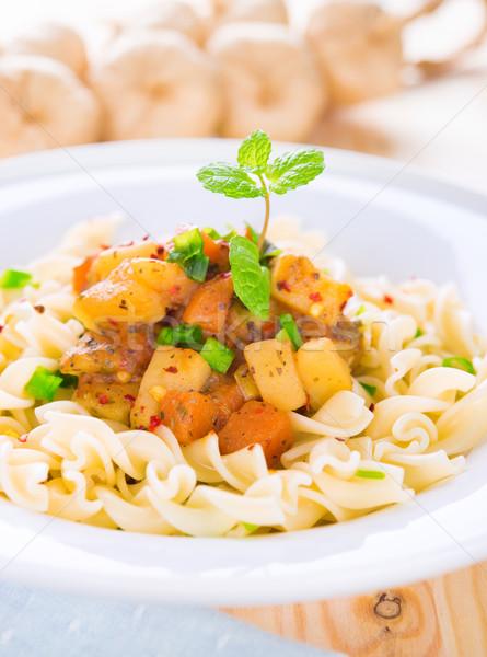 Pasta fusilli Stock photo © szefei