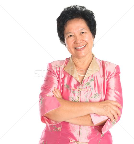 アジア シニア 女性 幸せ 笑みを浮かべて 祖父母 ストックフォト © szefei