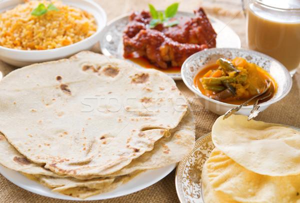 Chapatti roti or Flat bread Stock photo © szefei