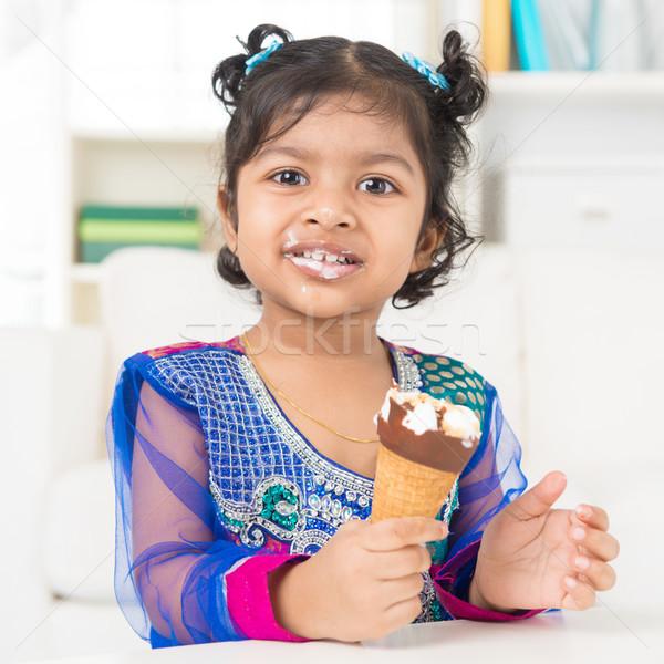 Eating ice cream. Stock photo © szefei