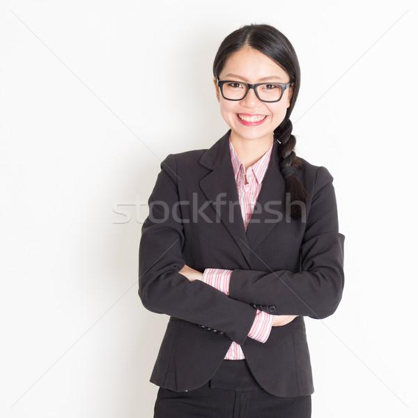 Asian business woman portrait Stock photo © szefei
