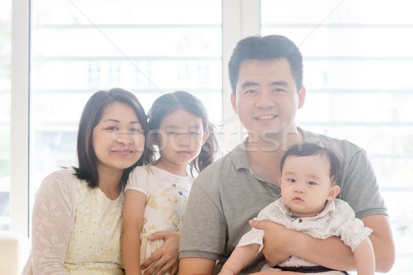 Asian family portrait Stock photo © szefei