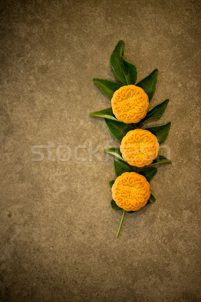 Moon cakes with copy space Stock photo © szefei