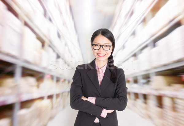 Store manager in storehouse Stock photo © szefei