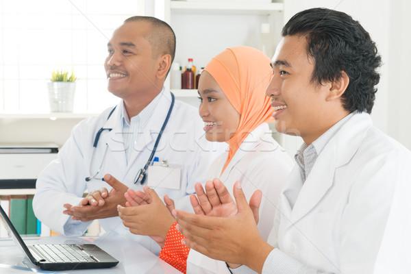 ストックフォト: アジア · 医師 · 拍手 · 手 · 楽しい · 医療