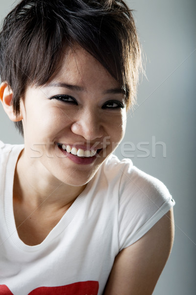 Rock fille souriant japonais portrait Photo stock © szefei