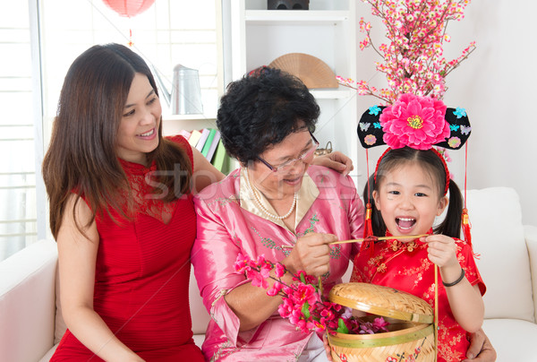 Chinese new year gift Stock photo © szefei